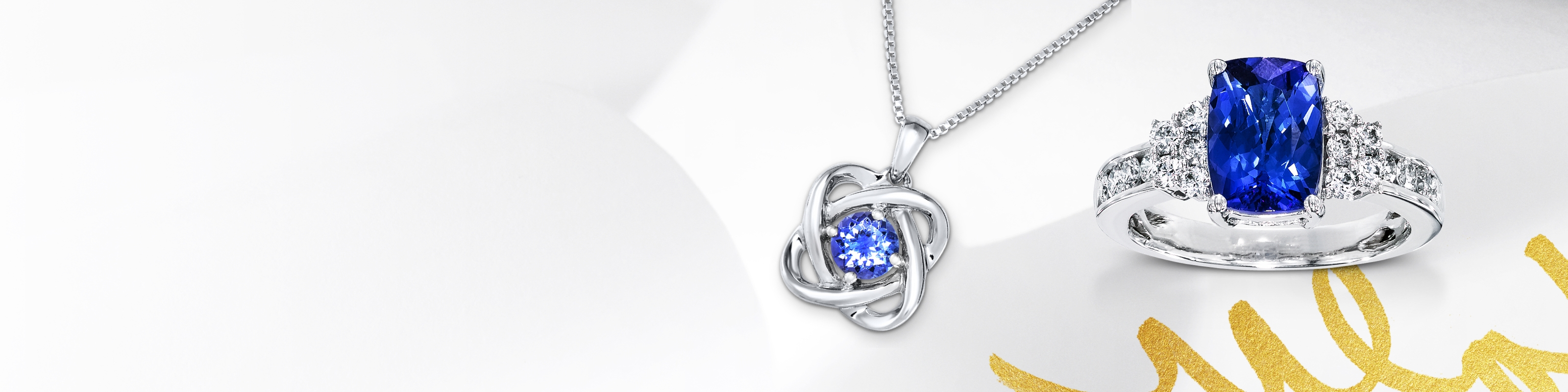 Tanzanite ring and necklace set in white gold. Shop all tanzanite jewelry at Jared.