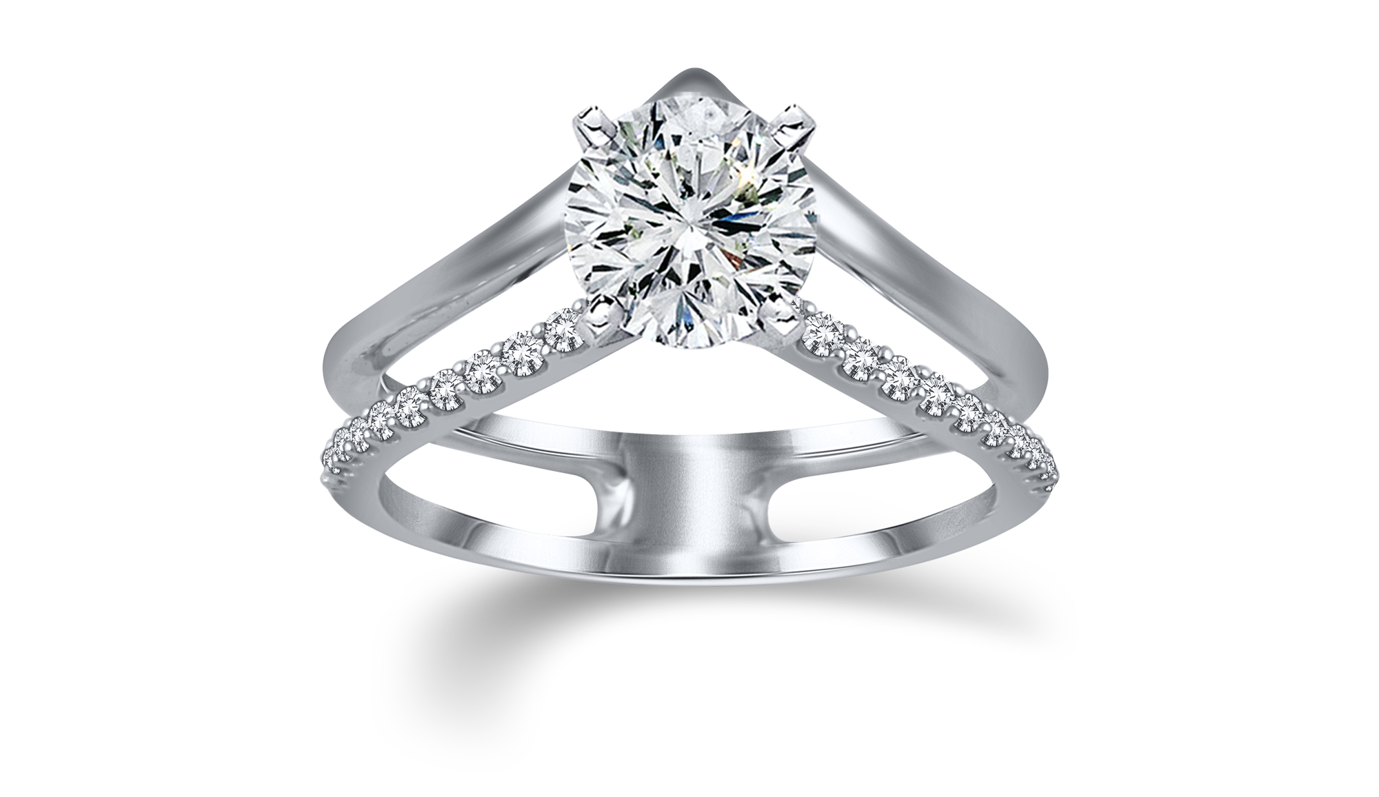 Attractive white gold ring - View Now