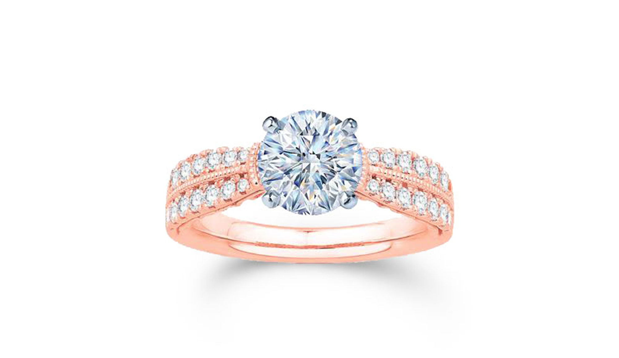 Attractive rose gold ring - View Now