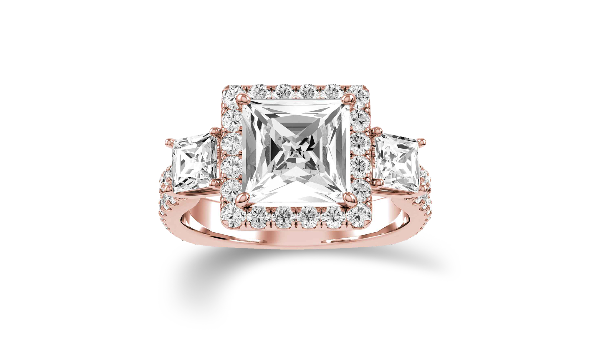 Rose gold and diamond ring - View Now