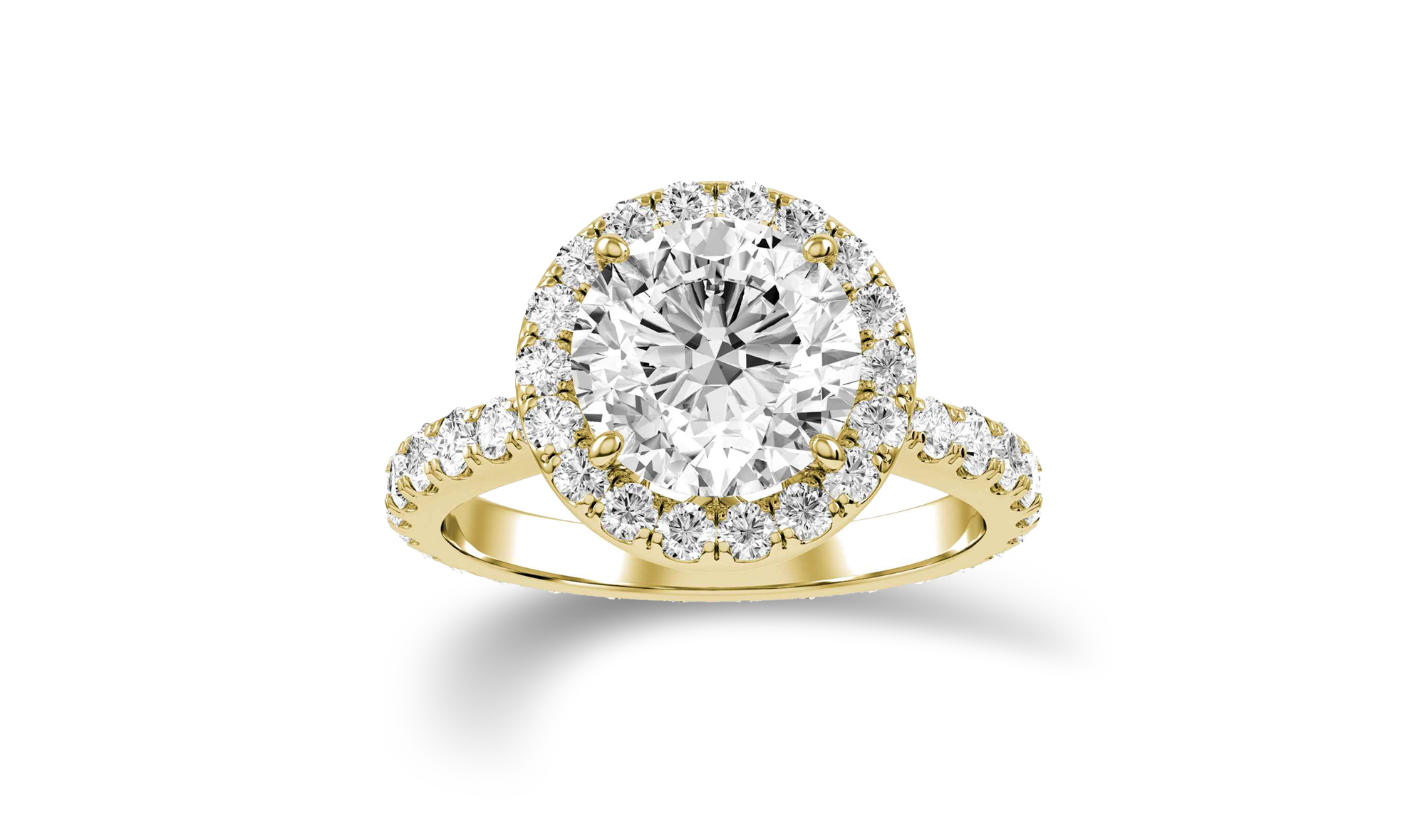 Yellow gold and diamond ring - View Now!