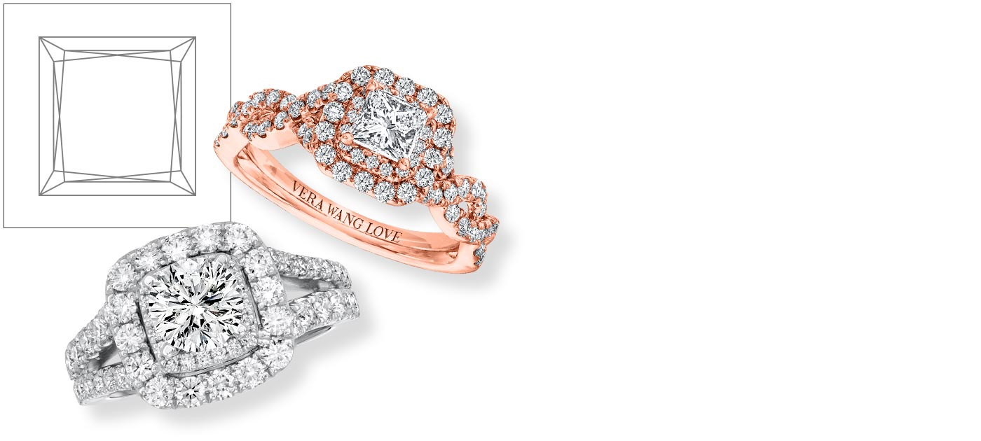 Princess Cut Engagement Rings Princess Cut Diamond Rings Jared Jared
