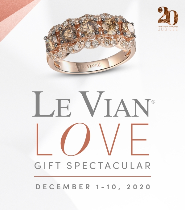 Save 20% on Le Vian jewelry now through December 10 during the Le Vian Love Gift Spectacular Event.