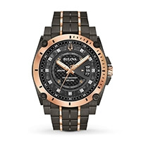 A Bulova Precisionist 46mm men's watch